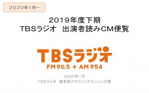 出演者読みCM便覧 2020年1月~