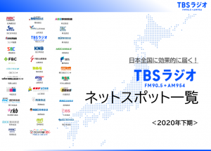 TBSラジオ全国ネットスポット一覧