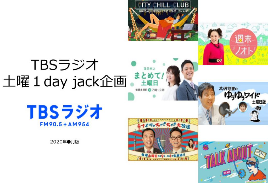 TBSラジオ 土曜1day jack企画