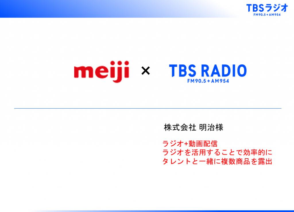 【ラジオ+動画配信】ラジオを活用することで効率的にタレントと一緒に複数商品を露出