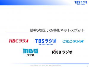 JRN基幹5局 ネットスポット特別企画